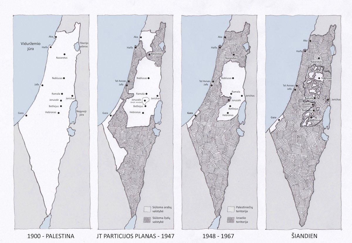 Istorinis Palestinos žemėlapis