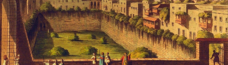 Jeruzalė, 1804 m. Luigi Mayerio piešinys