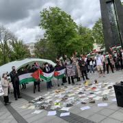 """Protesto akcija """"Aš esu palestinietis"""""""