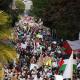 Protestuotojai prieš Izraelio apartheidą ir karo nusikaltimus San Franciske