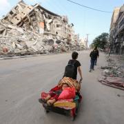Subombarduota Gaza