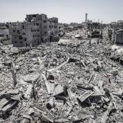 """Izraelio """"moralaus bombardavimo"""" rezultatai Gazoje"""