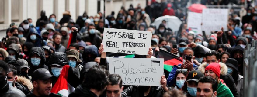 Palestiną remiantys protestai Paryžiuje