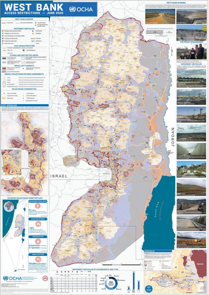 Palestiniečių jūdėjimo suvaržymai Vakarų Krante