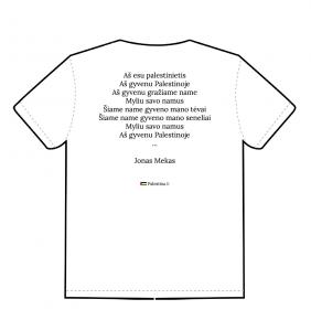 """Marškinėliai """"Aš esu palestinietis"""" (nugara)"""