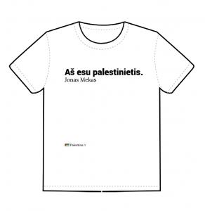 """Marškinėliai """"Aš esu palestinietis"""" (priekis)"""