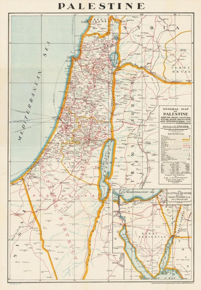 Palestinos žemėlapis 1942 m.
