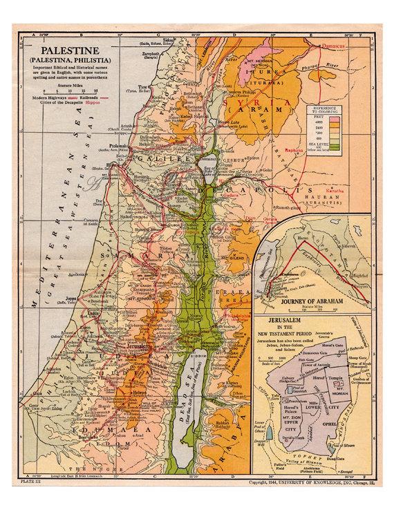 Palestinos žemėlapis 1944 m.