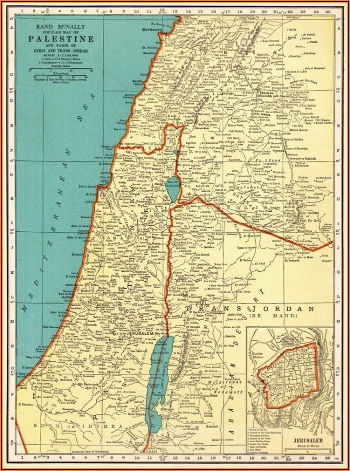 Palestinos žemėlapis