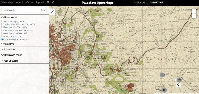 Palestinos žemėlapis OPEN MAPS