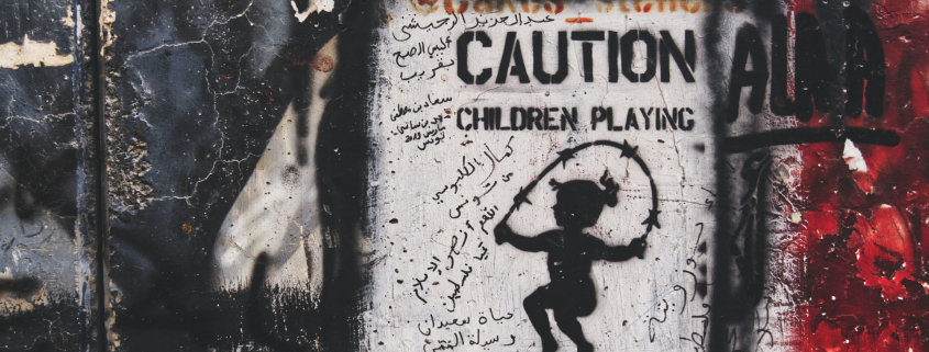 Caution: children playing with live wire